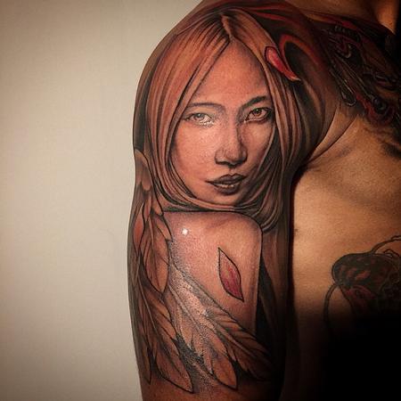 Japanese Angel Tattoo Design