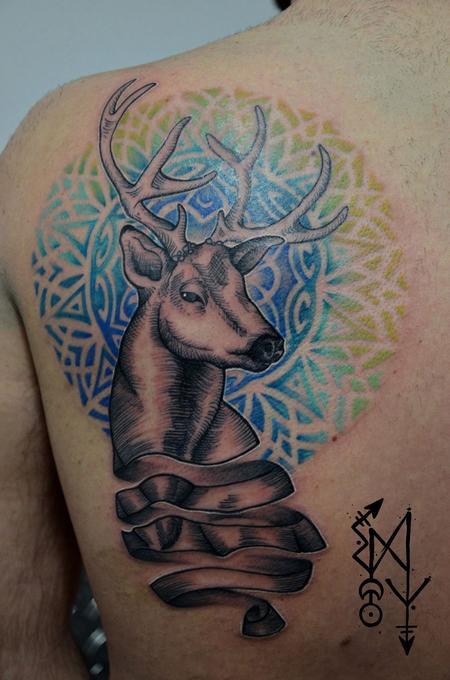 Tattoos - King deer  - 101859