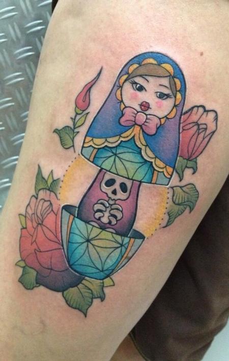 Tattoos - Mummy matriochka - 93472