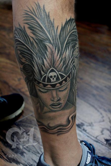 Tattoos - Aztec Girl Rework - 132811