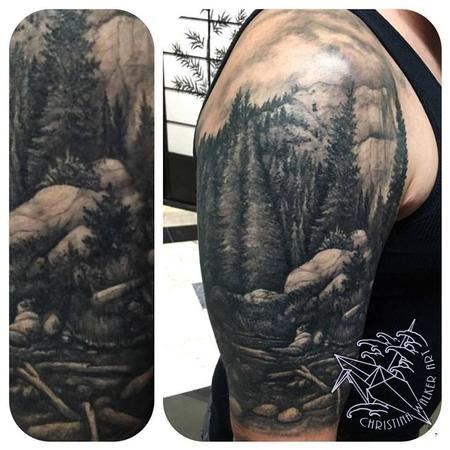 Tattoos - *Healed* Nature Half Sleeve - 122153