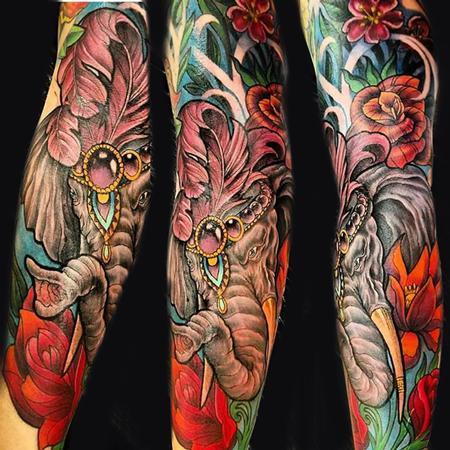 circus elephant Tattoo Design