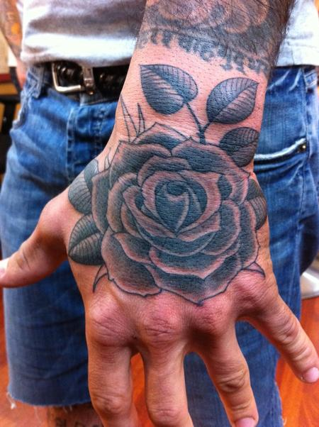 Black and Gray Rose Tattoo Tattoo Design