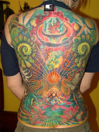 fantasy back Tattoo Design