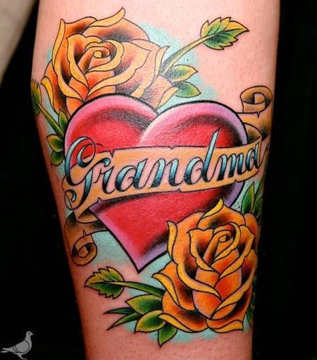 Tattoos - Color Grandma Memorial Tattoo - 115640