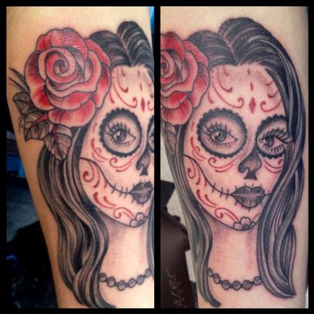 Day of the dead girl Tattoo Design