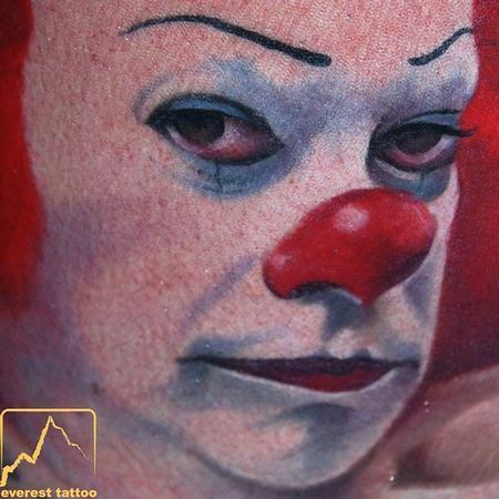 Clown Tattoo Design