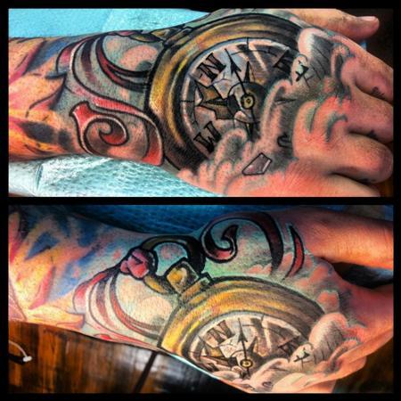 Compass hand tattoo Tattoo Design