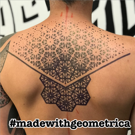 Tattoos - geometric back tattoo - 141739