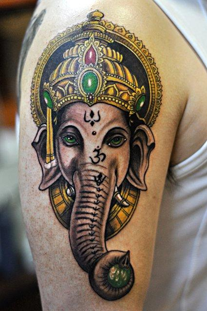 Color Elephant Tattoo Tattoo Design