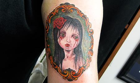 Color Girl Portrait Tattoo Tattoo Design