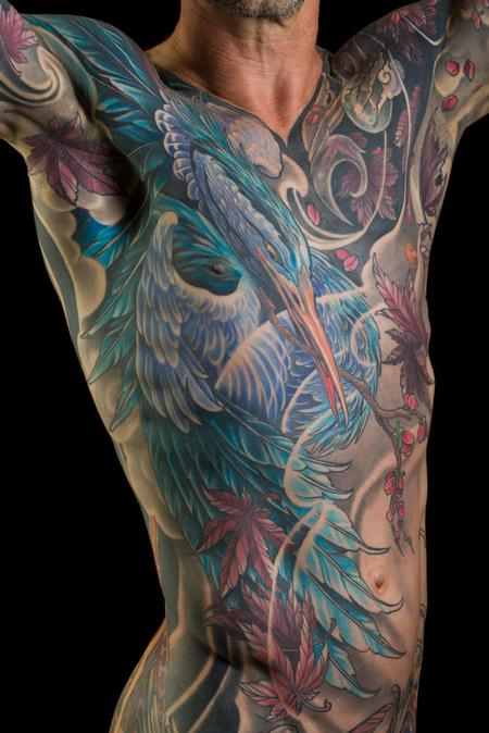 Glenn's Blue Heron Tattoo Design