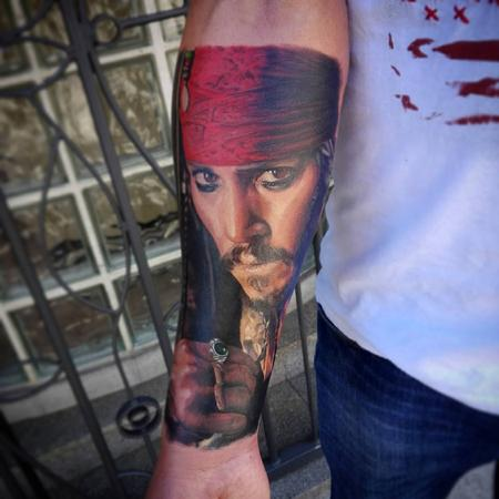 Captain Jack Sparrow Tattoo Design