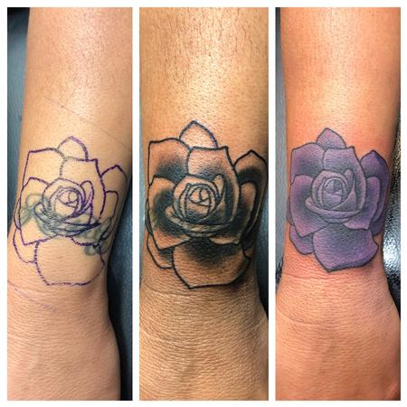 Tattoos - Rose Coverup Tattoo - 141364