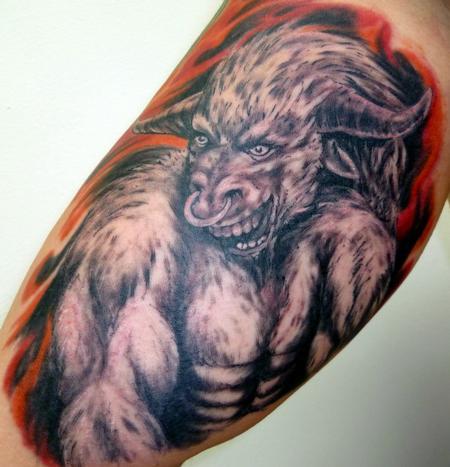 Taurus Bull Tattoo Design