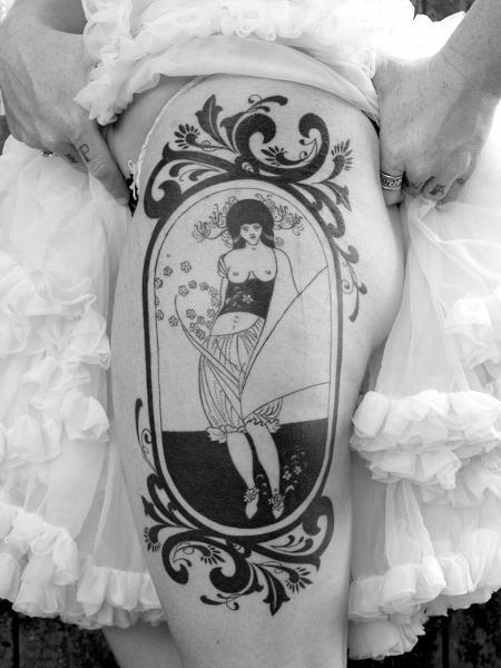 Aubrey Beardsley inspired tattoo. Tattoo Design