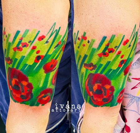 Poppies Tattoo Design