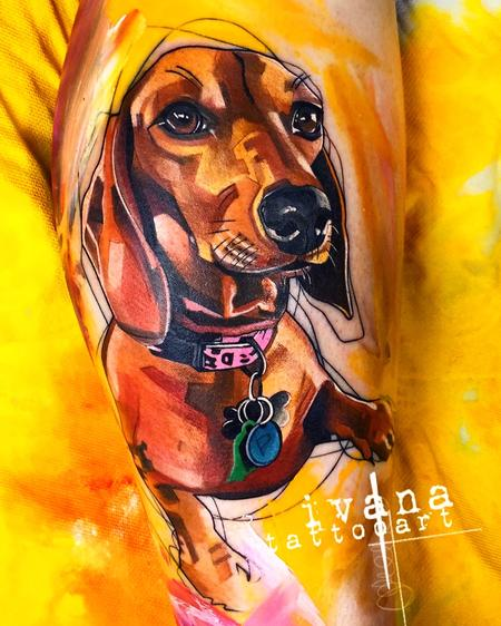 Ivana Tattoo Art - Dachshund Portrait