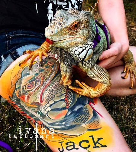 Ivana Tattoo Art - Iguana Jack