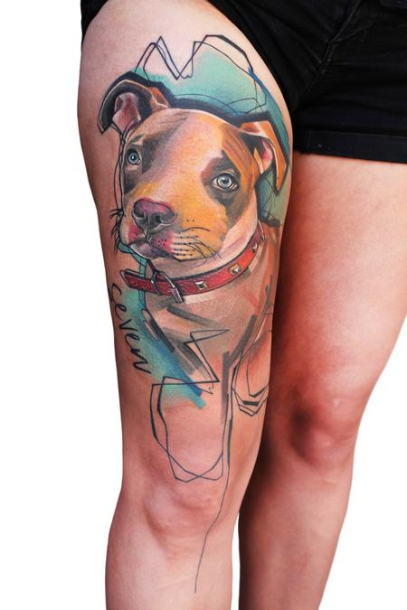 Ivana Tattoo Art - Dog pet protrait