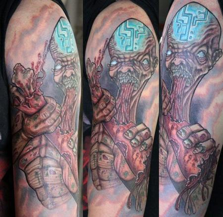 Zombie half sleeve Tattoo Design