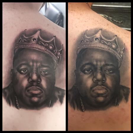 Tattoos - Biggie Smalls Portrait Tattoo - 138640
