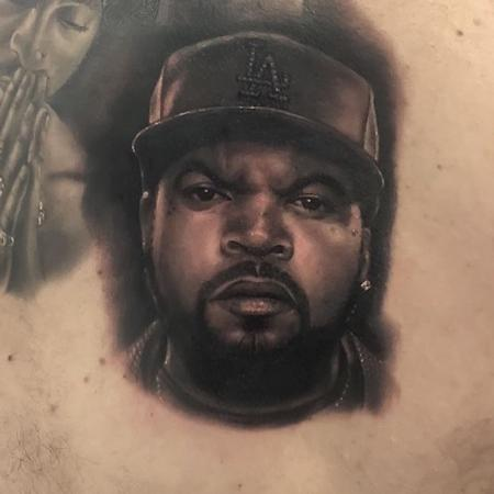 Tattoos - Ice Cube Portrait Tattoo - 137634