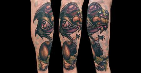 Tattoos - Interleukin Velociraptor - 140670