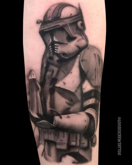 Clone Trooper Tattoo Design