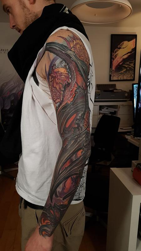 Lux Altera - Abstract Arm Sleeve Tattoo