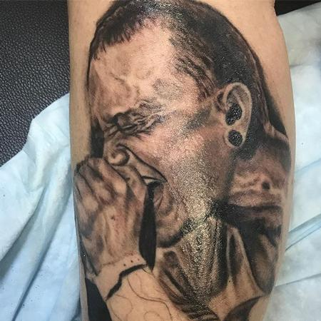 Chester Bennington Portrait Tattoo Design