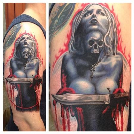 Hot girl evil sexy horror tattoo Tattoo Design