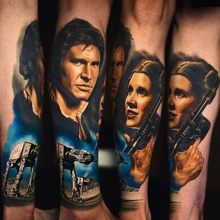 Tattoos - Start Wars half sleeve - 112147