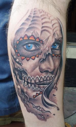 Shawns face Tattoo Design