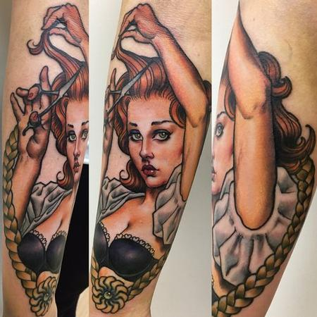 Hairdresser Pinup Tattoo Tattoo Design