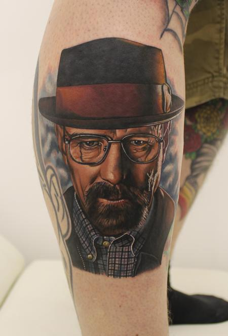 Breaking Bad Portrait Tattoo Design