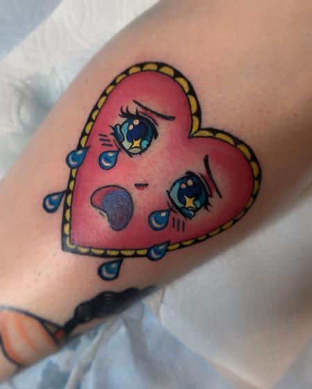 Tattoos - Sadie Gabriella Crying Heart - 142489