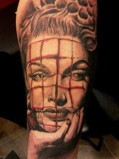 Tattoos - Abstract Portrait Tattoo - 63543