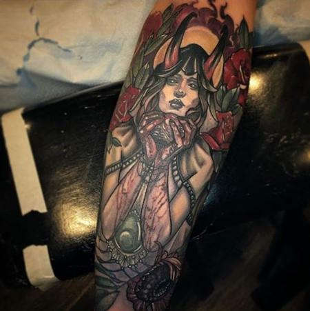 Tattoos - Al Perez - The Demon Lady With A Heart - 141450