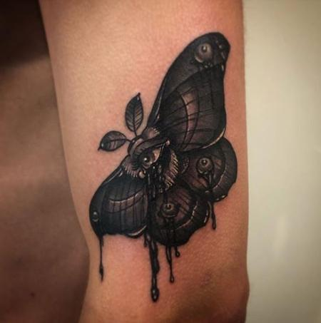Tattoos - Moth with Eye Tattoo - 136170