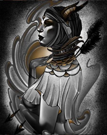 Tattoos - Al Perez Demon Lady - 139101