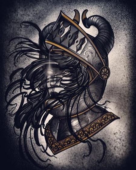 Tattoos - Al Perez Demon Knight Lady - 139136