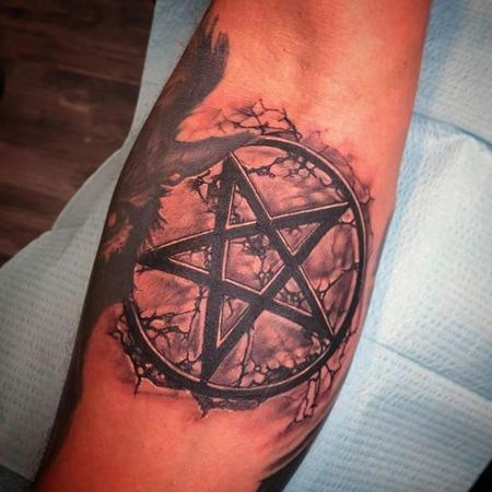 Tattoos - Al Perez Pentagram - 138814