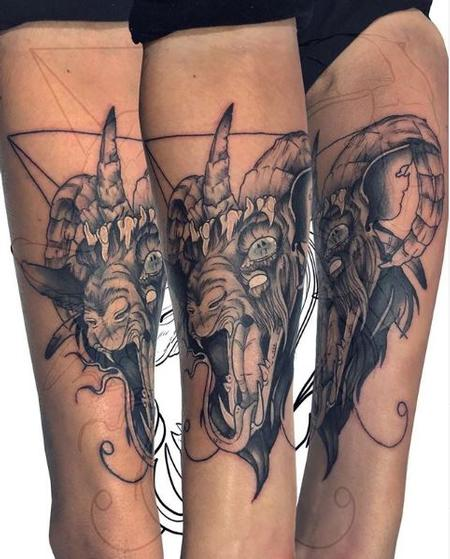 Tattoos - Ashes Bardole evil goat - 138275