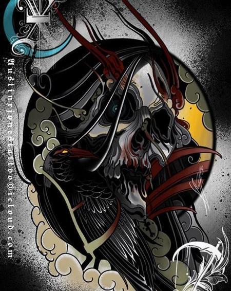 Austin Jones - Skull and Bird