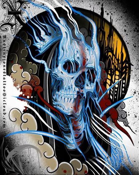 Tattoos - Ghost Skull - 136155