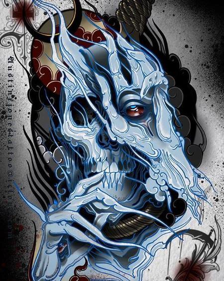 Tattoos - Ghost Skull - 136156