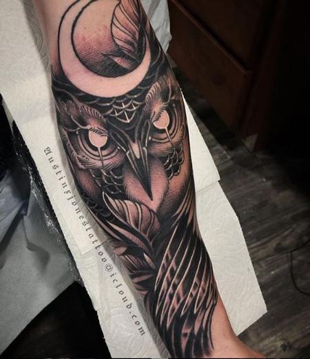 Tattoos - Austin Jones Owl - 139394