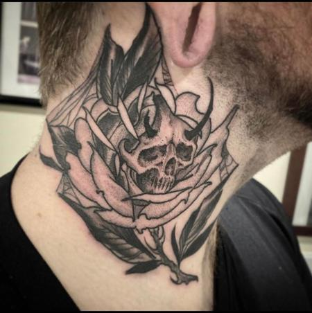 Tattoos - Billy Williams Rose Skull - 141212