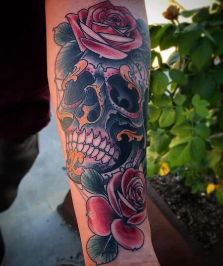 Tattoos - Billy Williams Sugar Skull - 139538